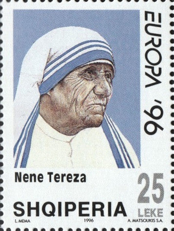 #2506-2508 Albania - 1996 Europa: Famous Women - Mother Teresa, Set of 3 (MNH)