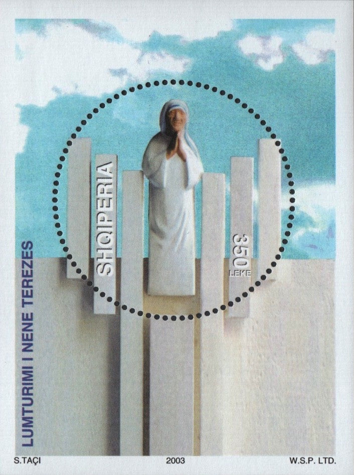 #2723 Albania - Beatification of Mother Teresa S/S (MNH)