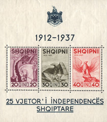 #280 Albania - 25th Anniv. of Independence from Turkey S/S (MNH)