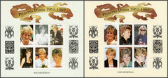 #1008-1009 Angola - Diana, Princess of Wales, 2 Sheets of 6 (MNH)