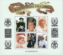 #2119-2120 Antigua - 1998 Princess Diana, 2 Sheets of 6 (MNH)