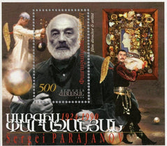#588 Armenia - Sergei Parajanov, Film Director, 75th Birth Anniv. S/S (MNH)