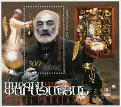 #588a Armenia - Sergei Parajanov, Film Director, 75th Birth Anniv. S/S (MNH)