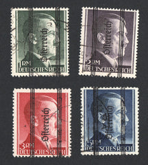 #428-431 Austria - Germany Nos. 524-527 Overprinted (Used)