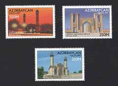 #661-663 Azerbaijan - Mosques, Set of 3 (MNH)