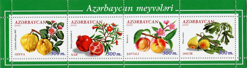 #707 Azerbaijan - Fruit, Sheet of 4 (MNH)