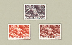 #B114-B116 Hungary - Soldier Protecting Family From Floods (MNH)