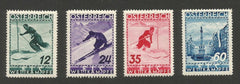 #B138-B141 Austria - Ski Concourse, Set of 4 (MNH)