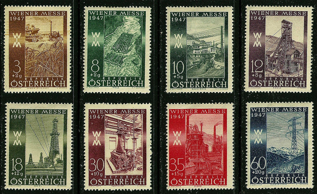 #B199-B206 Austria - Vienna International Sample Fair, 1947 (MNH)