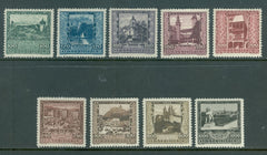 #B57-B65 Austria - Charity Stamps for Needy Artists, Set of 9 (MNH)