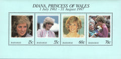 #902 Bahamas - 1998 Diana, Princess of Wales (1961-1997), Sheet of 4 (MNH)