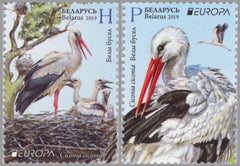 #1139-1140 Belarus - 2019 Europa: National Birds (MNH)