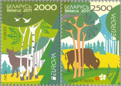 #766-767 Belarus - 2011 Europa: Intl. Year of Forests (MNH)