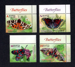 #1015-1018 Belarus - Butterflies, Set of 4 (MNH)
