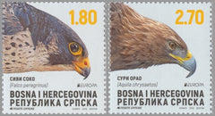 #612-613 Bosnia (Serb) - 2019 Europa: National Birds (MNH)