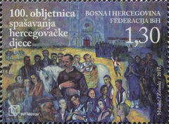 #360 Bosnia (Croat) - Rescue of Starving Bosnian Children, Cent. (MNH)