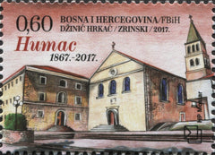 #347 Bosnia (Croat) - Reconstruction of Franciscan Monastery, Humac (MNH)