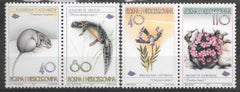 #278-279 Bosnia (Muslim) - Snow Vole, Newt and Plants (MNH)