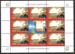 #118 Bosnia (Croat) - Albert Einstein M/S (MNH)