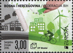 #330 Bosnia (Croat) - 2016 Europa: Think Green (MNH)