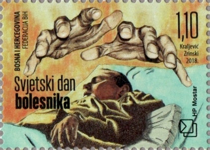 #369 Bosnia (Croat) - 2018 World Day of the Sick (MNH)