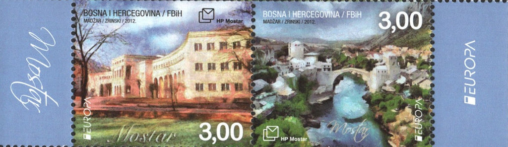 #266 Bosnia (Croat) - 2012 Europa: Visit..., Pair (MNH)