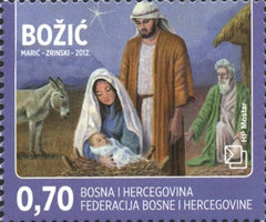 #278-279 Bosnia (Croat) - Christmas and New Year's Day, Set of 2 (MNH)
