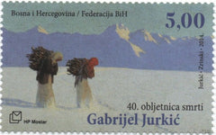 #298 Bosnia (Croat) - Snowy Idyll, by Gabrijel Jurkić (MNH)