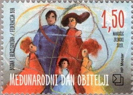 #374 Bosnia (Croat) - International Day of Families (MNH)
