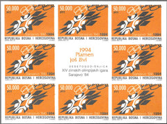 #207 Bosnia (Muslim) - 1984 Winter Olympic Games, Sarajevo, 10th Anniv. M/S (MNH)