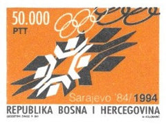 #207 Bosnia (Muslim) - 1984 Winter Olympic Games, Sarajevo, 10th Anniv. (MNH)