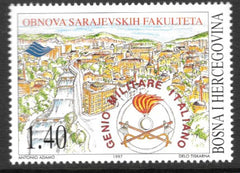 #285 Bosnia (Muslim) - Italian Pioneer Corps Aid in Reconstruction of Sarajevo (MNH)