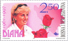 #288 Bosnia (Muslim) - Diana, Princess of Wales (MNH)