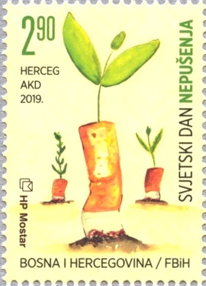 #394 Bosnia (Croat) - 2019 World No Tobacco Day (MNH)