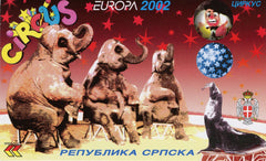 #173A Bosnia (Serb) - 2002 Europa: Circus, Complete Booklet (MNH)
