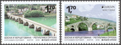 #589-590 Bosnia (Serb) - 2018 Europa: Bridges, Set of 2 (MNH)