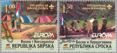 #293-294 Bosnia (Serb) - 2007 Europa: Scouting, Cent., Set of 2 (MNH)