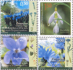 #334-337 Bosnia (Serb) - Flowers (MNH)