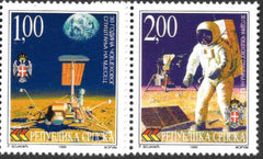 #95-96 Bosnia (Serb) - Man on the Moon, 30th Anniv. (MNH)