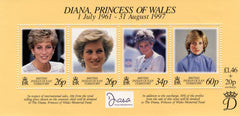 #197 British Indian Ocean Territory - Diana, Princess of Wales, Sheet of 4 (MNH)