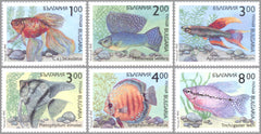 #3766-3771 Bulgaria - Fish (MNH)