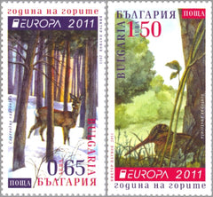 #4567-4568 Bulgaria - 2011 Europa: Intl. Year of Forests, Set of 2 (MNH)