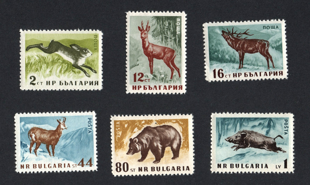 #1004-1009 Bulgaria - Wild Animals, Perf., Set of 6 (MNH)