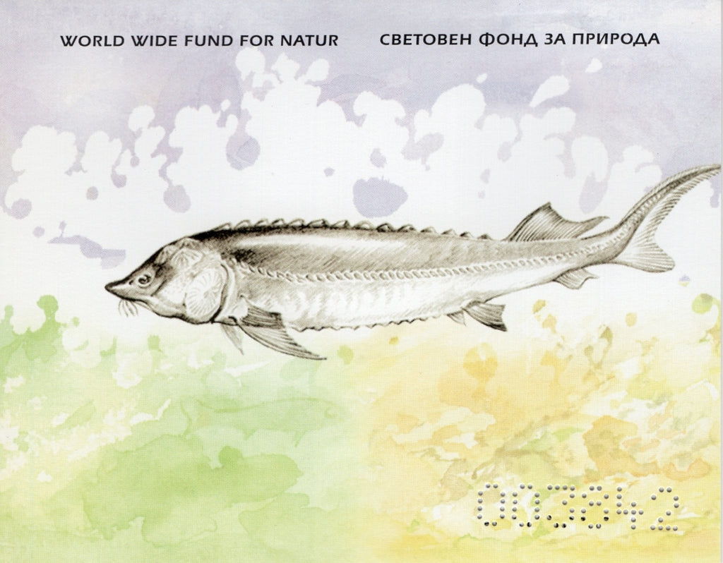 #4329 Bulgaria - 2004 Worldwide Fund for Nature (WWF): Sturgeon, Complete Booklet (MNH)