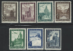 #C47-C53 Austria - Landscape and Landmark Air Mail Issue (MNH)