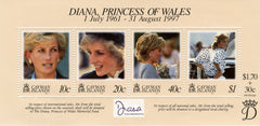 #753 Cayman Islands - 1998 Diana, Princess of Wales, Sheet of 4 (MNH)