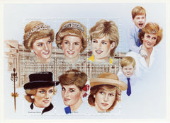 #1159 Central African Republic - 1997 Princess Diana, Sheet of 6 (MNH)