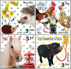 Croatia - 2020 Children's World: Pygmy Animals, Set of 4 (MNH)