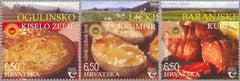 Croatia - 2020 Protected Foods, Set of 3 (MNH)