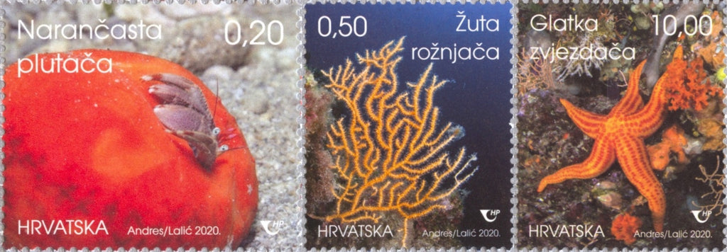 Croatia - 2020 Undersea World IV, Set of 3 (MNH)